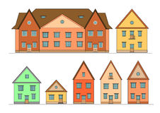 Houses set. Stock Photography