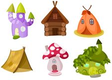 Houses set. Vector Illustration of a houses set Royalty Free Stock Images