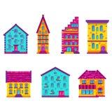 Houses Set Flat Stock Photo
