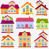 Houses set Stock Image