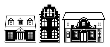 Houses set Royalty Free Stock Photography