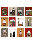 Houses set for scrapbooking stock image