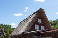 Houses Shirakawago, Japan Royalty Free Stock Photography