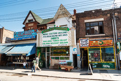Houses and shops in Kensington in Toronto Stock Images