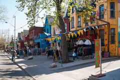 Houses and shops in Kensington in Toronto Royalty Free Stock Photo