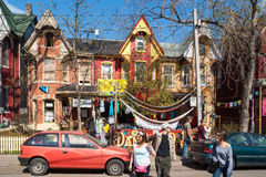 Houses and shops in Kensington in Toronto Royalty Free Stock Photography
