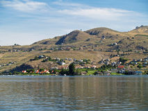 Houses on the Shore of Lake Chelan Stock Images