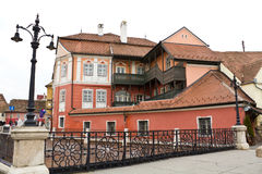 Houses in Sibiu. Houses in the historic center of Sibiu,Romania Stock Photography