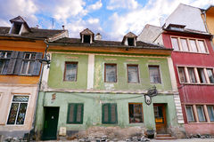 Houses in Sibiu Royalty Free Stock Images