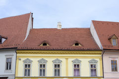 Houses in Sibiu,Romania Stock Photo
