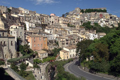 Houses of Sicily. View at Ragusa, Sicily, Italy Stock Images