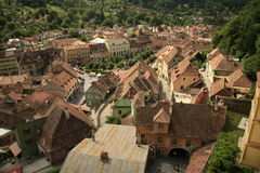 Houses in sighisoara Stock Photo