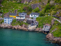 Houses by signal hill in St. John`s. Newfoundland, Canada Stock Photography