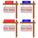 Houses with Signs Royalty Free Stock Photography