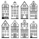 Houses silhouette set Royalty Free Stock Photography
