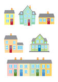 Houses 1. Six Different styles of housing Royalty Free Stock Photos