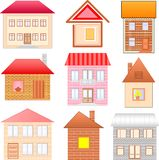 Houses sketches set Stock Images