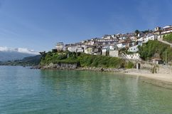 Small  town by the sea Stock Photography