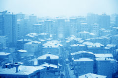 Houses and snow Royalty Free Stock Photography