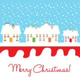 Houses and snow in christmas Stock Photography
