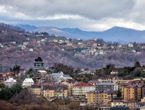 Houses in Sochi. Russia Royalty Free Stock Photo