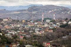 Houses in Sochi. Russia Royalty Free Stock Photography