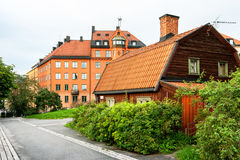 Houses at Sodermalm in Stockholm. Sweden Stock Photo