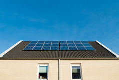 Houses with solar panels Royalty Free Stock Image