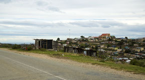Houses in a South African township. A township in South Africa stock image