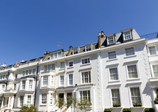 Houses in South Kensington, London stock images
