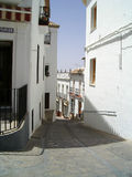 houses spansk bywhite Royaltyfri Bild