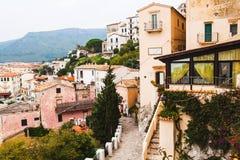 Houses of Sperlonga. Italy Stock Image