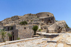 Houses in Spinalonga Stock Photos