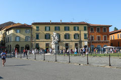 Houses in Square of Miracles, in Pisa Stock Photos