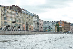 Houses in St. Petersburg on river Fontanka Royalty Free Stock Image