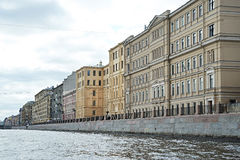 Houses in St. Petersburg on river Fontanka Stock Image