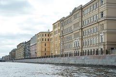 Houses in St. Petersburg on river Fontanka Stock Image