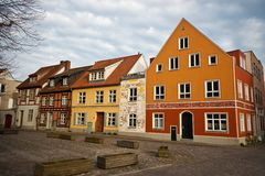 Houses in Stalsund. Houses in the old town of Stalsund Stock Photography