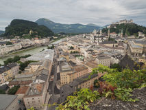 Houses standing near the river in Salzburg Royalty Free Stock Photography