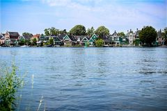 Houses are standing on the water Stock Image