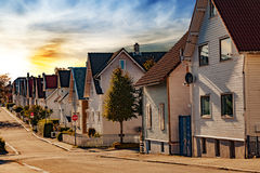 Houses in Stavanger Stock Photography