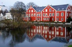 houses stavangher Royaltyfria Bilder