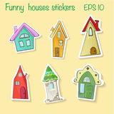 Houses stickers Royalty Free Stock Images