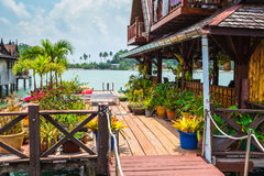 Houses on stilts in the fishing village of Bang Bao Stock Photography