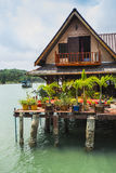 Houses on stilts in the fishing village of Bang Bao Stock Images