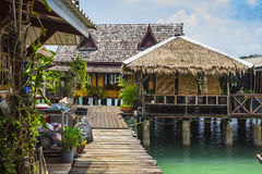 Houses on stilts in the fishing village of Bang Bao Royalty Free Stock Photos