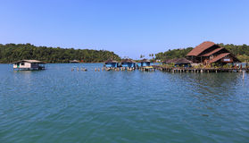 Houses on stilts in the fishing village of Koh Chang, Thailand Stock Photo