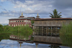 Houses on stilts. Floating village on Inle lake. Myanmar (Burma Stock Photography