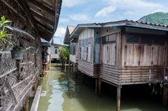 Houses on stilts at Koh Panyee Royalty Free Stock Photography