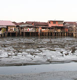 Houses on Stilts in Penang, Malaysia Royalty Free Stock Photos